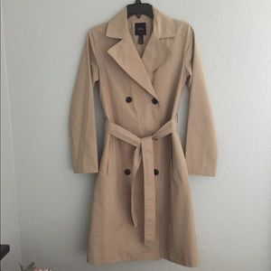 Forever 21 tan trench coat sz S